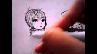 Speed Drawing Anime [Muscular shota]