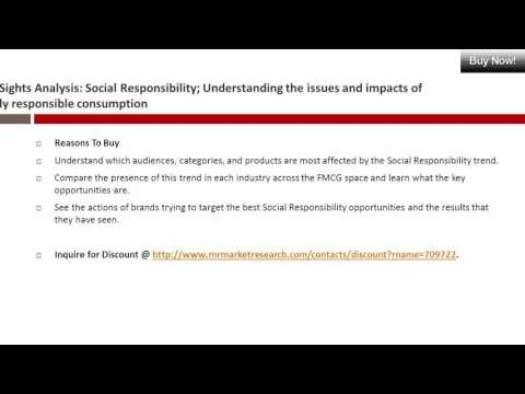 Social Responsibility Market TrendSights Analysis in 2016 New Research Report