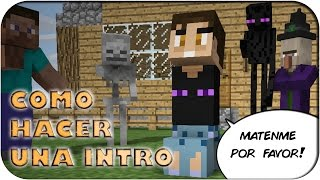 COMO HACER UNA INTRO DE MINECRAFT FACIL Y RAPIDO - TUTORIAL + DESCARGA