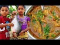 Yummy Fish Curry Recipe | Kids Cooking in My Village |  Village Food