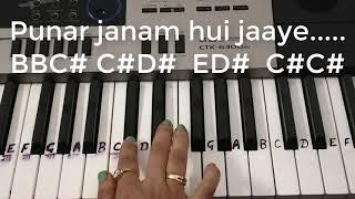 Khaike paan banaras wala   keyboard piano tutorials