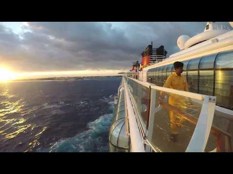 Disney Magic, strong winds Nassau