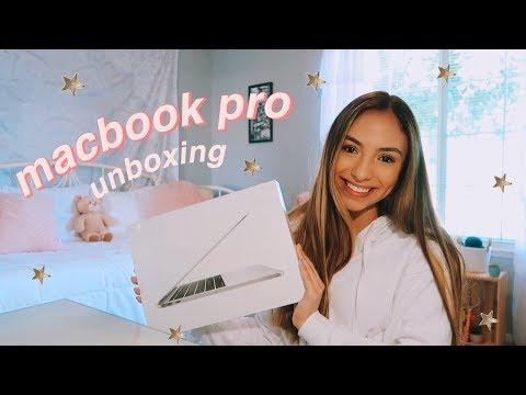macbook pro unboxing + vlog!