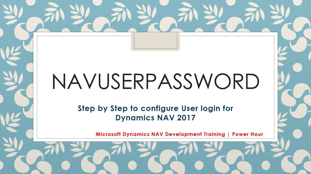 Navuserpassword Authentication Step By Step Certificate Thumbprint