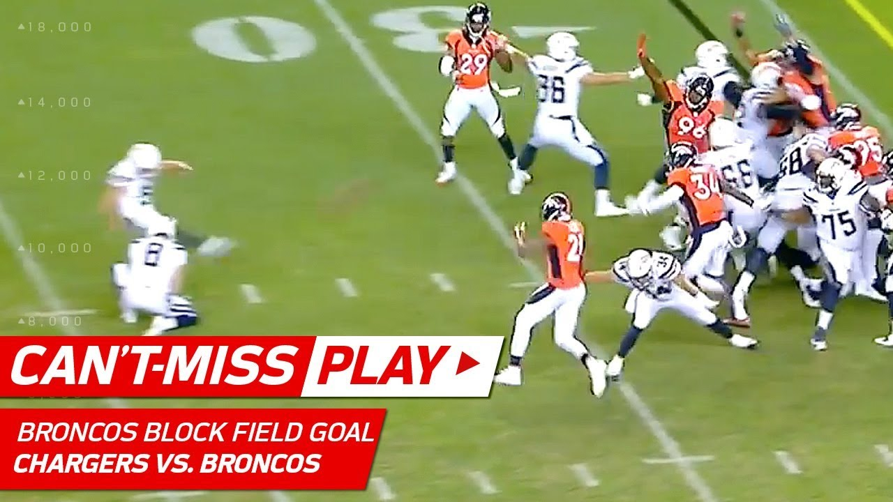 Broncos Game Winning Field Goal Block Can T Miss Play