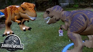 T-REX Vs ORANGE T-REX - FREE PLAY #48 || LEGO Jurassic World