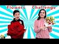 11 FLOWER CHALLENGE | Aayu vs Pihu blindfold challenge | General Knowledge | Aayu and Pihu Show