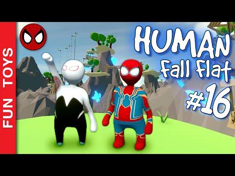 human-fall-flat-#17---homem-aranha-e-gwen-stacy-no-mundo-do-avatar-e-um-final-com-festa!-🕷-🕸