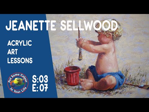 Fine art tips witha Free Acrylic Art Lessons with Jeanette Sellwood on Colour In Your Life