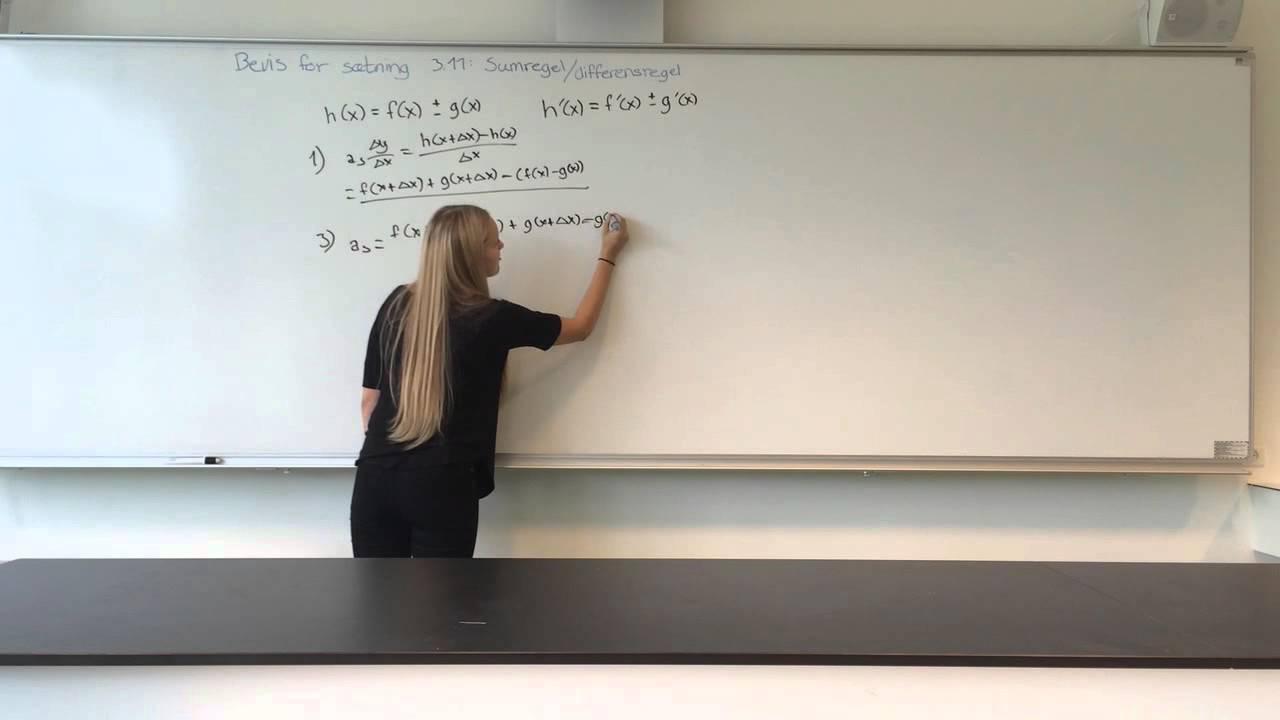 Sumregel/Differensregel - Differentialregning