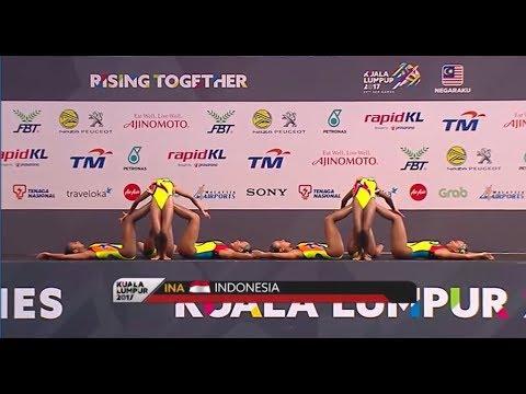 Team Indonesia -  Synchronized Swimming Teams Free Routine | Sea Games 2017