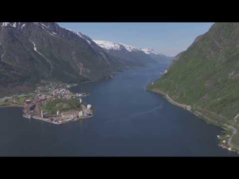 Odda, Sørfjorden, Trolltunga - Flying Over Norway