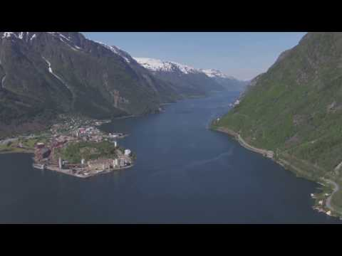 Odda, Sørfjorden, Trolltunga - Flying Over Norway