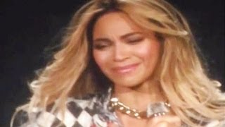 "Beyoncé Cries ""Ugly Cry"" at Final Mrs. Carter Concert AND Falls on Stage- VIDEO"