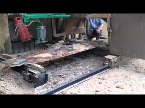 Traditional English Sawmill at work
