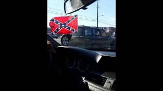 Confederate flag parade in Dalton, Ga.
