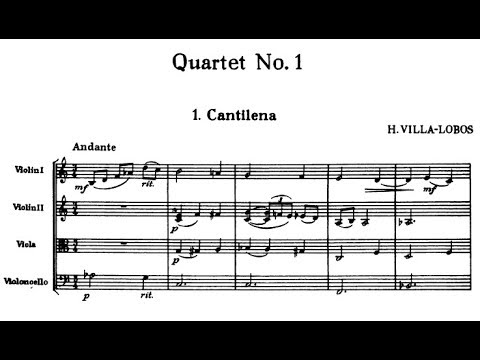 Heitor Villa-Lobos - String Quartet No. 1 (1915 - rev. 1946)