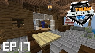 Minecraft Truly Bedrock S0E17 Restaurant on spawn island as a new shop, and the hall of comments