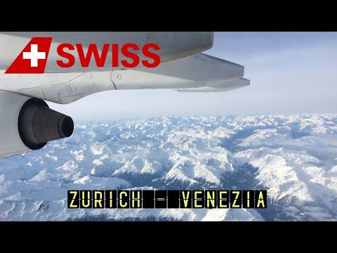 Swiss LX1660: Zurich - Venezia (Avro RJ100) [HD 1080p]
