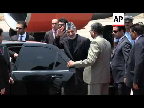 Leaders from Pakistan, Afghanistan and Sri Lanka arrive for inauguration