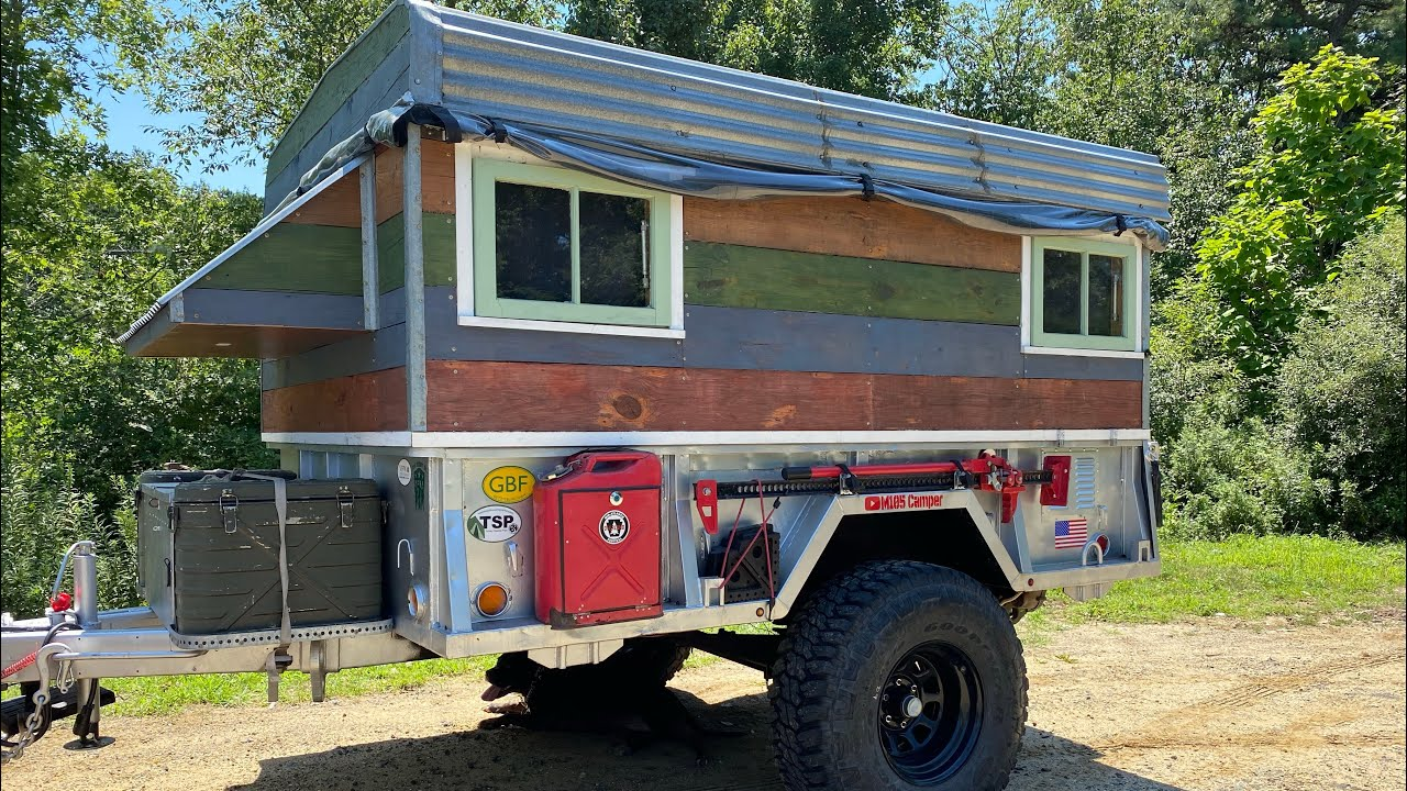 CAMPER TOUR | Military Surplus M105 Trailer Converted into the Ultimate Off Road Overland Camper