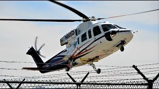 Helicopter Sikorsky S-76B Children's Hospital Van Nuys Airport (Just like Kobe Bryant Helicopter)