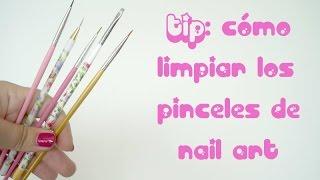 TIP: cómo limpiar los pinceles de uñas (esmalte)