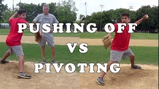 Why You Should Pivot vs Push Off the Rubber - Baseball Pitching Mechanics - DNA Sports: On The Field