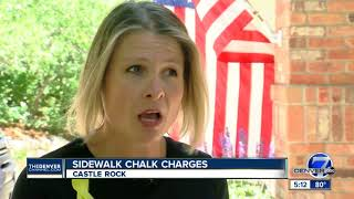Woman faces jail time after chalk protest in front of Rep. Ken Buck's Castle Rock office