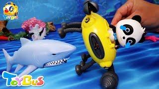 Help! Big Shark Attacks Baby Panda | Octonauts | Captain Barnacles | Super Rescue Team | ToyBus