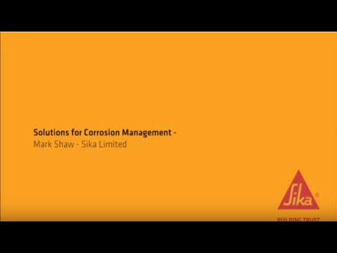 Solutions for Corrosion Management: Mark Shaw, Sika (Part 3 of 3)