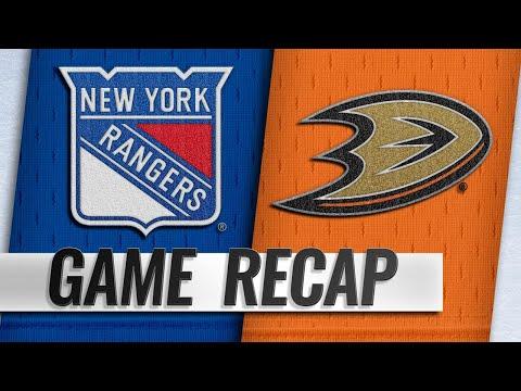 Howden, Rangers top Ducks in shootout for 3-2 win