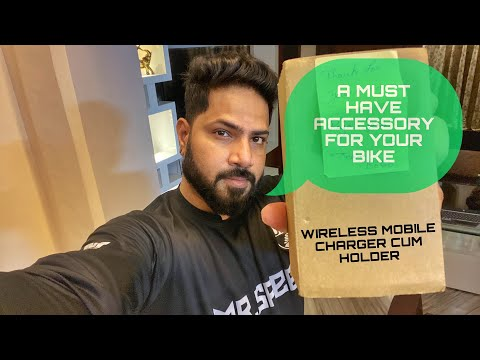 A MUST HAVE ACCESSORY FOR YOUR BIKE | WIRELESS MOBILE CHARGER CUM HOLDER.