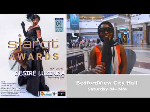 DESIRE LUZINDA's arrival in South Africa for the Performance at Starqt Awards 2017