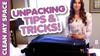 Melissa's Unpacking Routine! Luggage Care: How to Stay Organized & Clean for Travel (Clean My Space) Thumbnail
