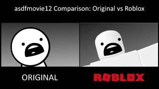 asdfmovie12 Comparison: Original vs ROBLOX