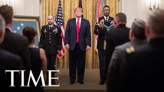President Donald Trump Presents The Medal Of Honor At The White House | TIME