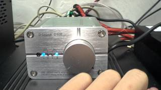 D.Sound D400 純數字功放 DAC X 迷你擴音機 100W X2