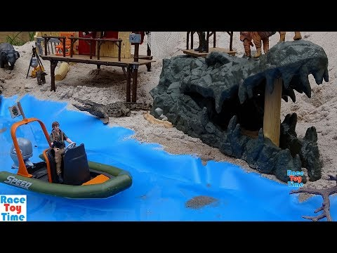 Schleich WildLife Jungle Dinghy Boat Playset Fun Toy Animals For Kids - Learn Animal Names Video