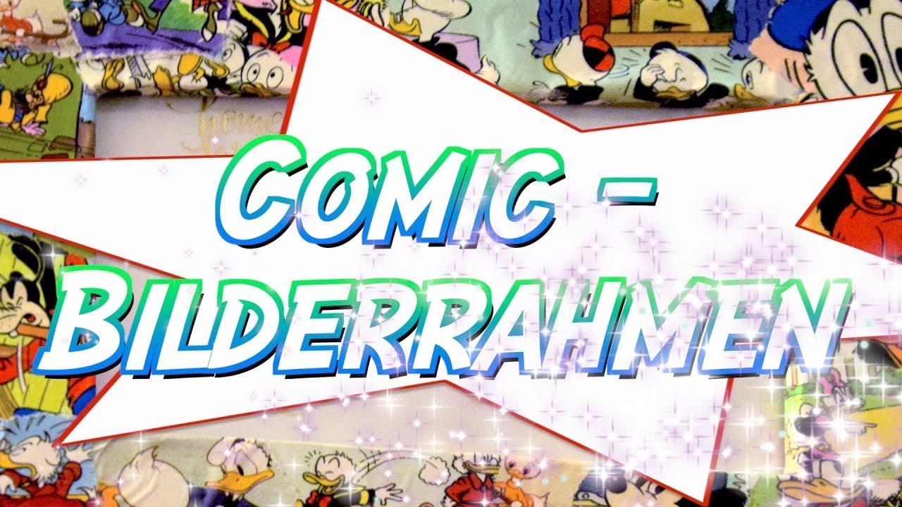 Diy Comic Bilderrahmen Upcycling Comichefte Deko Furs