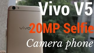 Hindi Vivo V5 Unboxing amp Review 20MP selfie Camera Sharmaji Technical