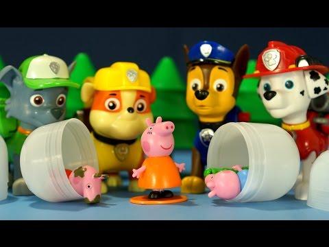 Мультики из игрушек Свинка Пеппа и Щенячий Патруль на русском языке для детей