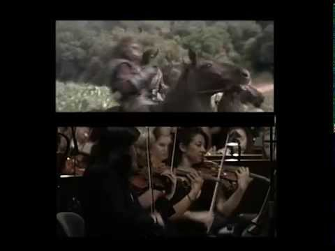 Planet of the Apes The Hunt with ORCHESTRA Jerry Goldsmith