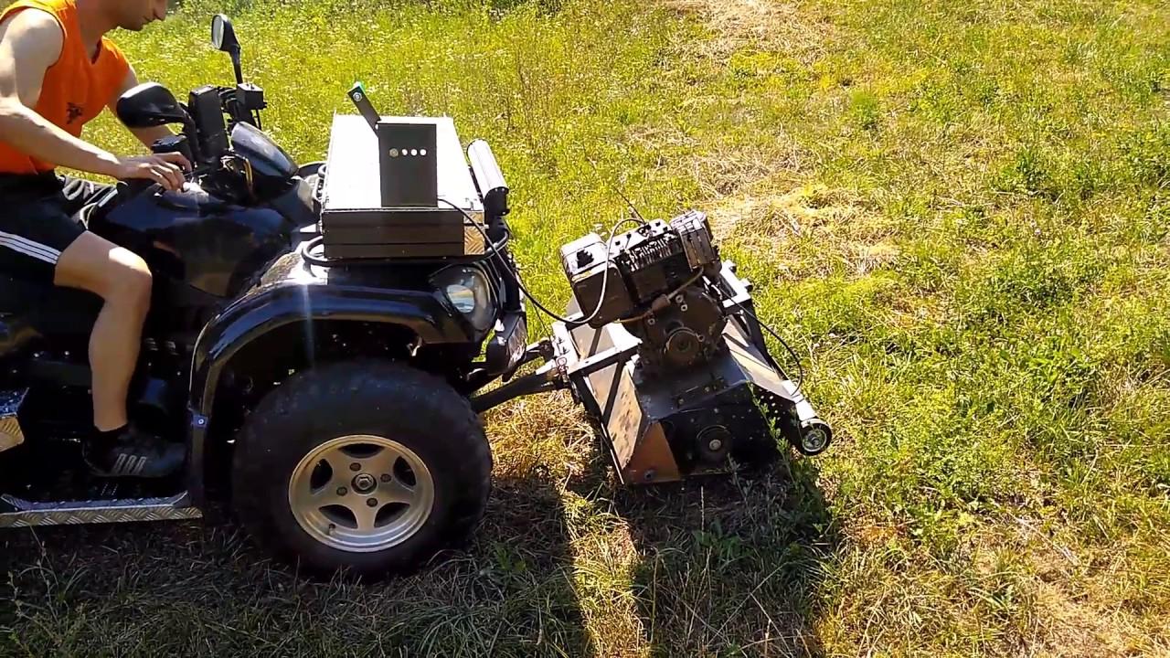 homemade mower for quad