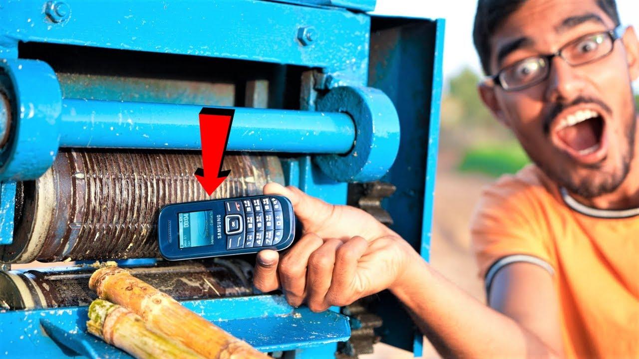 Mobile Phone VS Sugarcane Crusher   गन्ने की मशीन में डाल दिया मोबाइल फ़ोन   Never Try