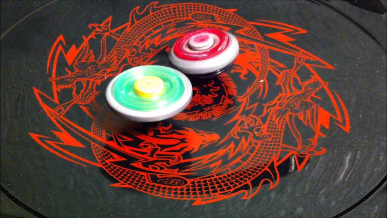 4-Way BEYBLADE BATTLE! Cyber Pegasus VS Flame Libra VS Ray ...