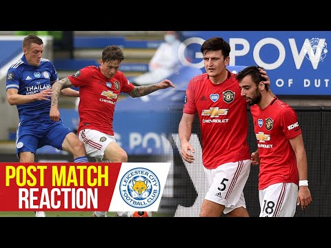 Solskjaer, Maguire, Lindelof & Fernandes react to Reds win! | Leicester City 0-2 Manchester United