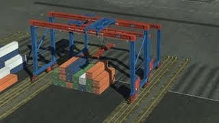 Port Sim 2012 Hamburg: Managing Trains & Moving Containers (w/ commentary)