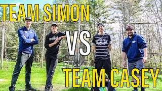 NEW COURSE RECORD 🔥TEAM SIMON VS TEAM CASEY (full doubles round at Flatrock Disc Golf)