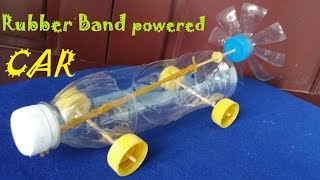 How to make a Rubber Band powered Car - Air Car thumbnail
